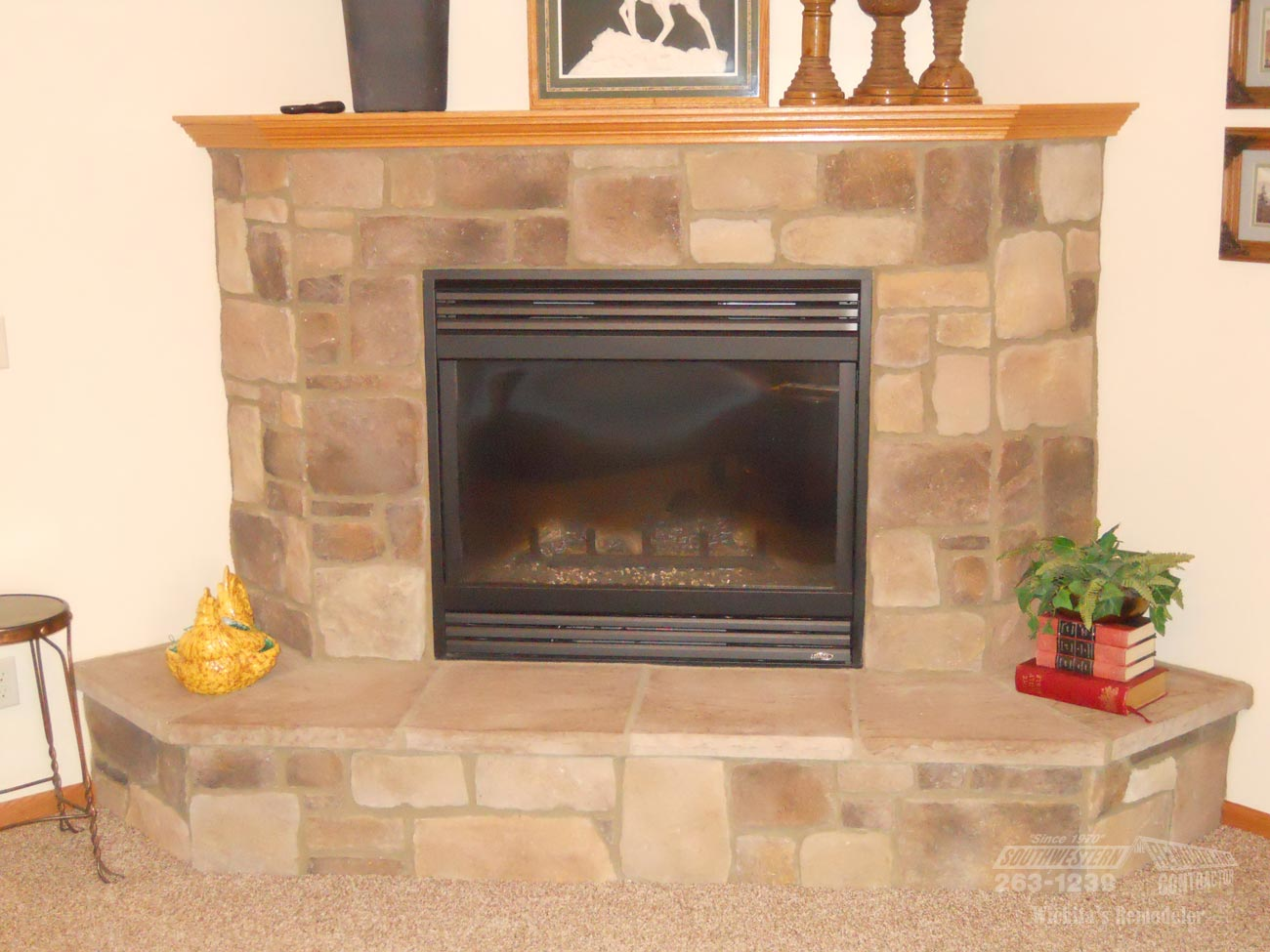Basement bar remodeling southwestern remodeling ks for Southwestern fireplaces