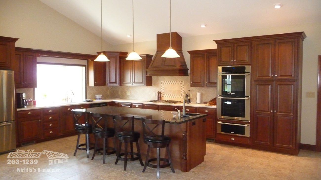 Southwestern remodeling kitchen remodeling wichita for Kitchen renovation images