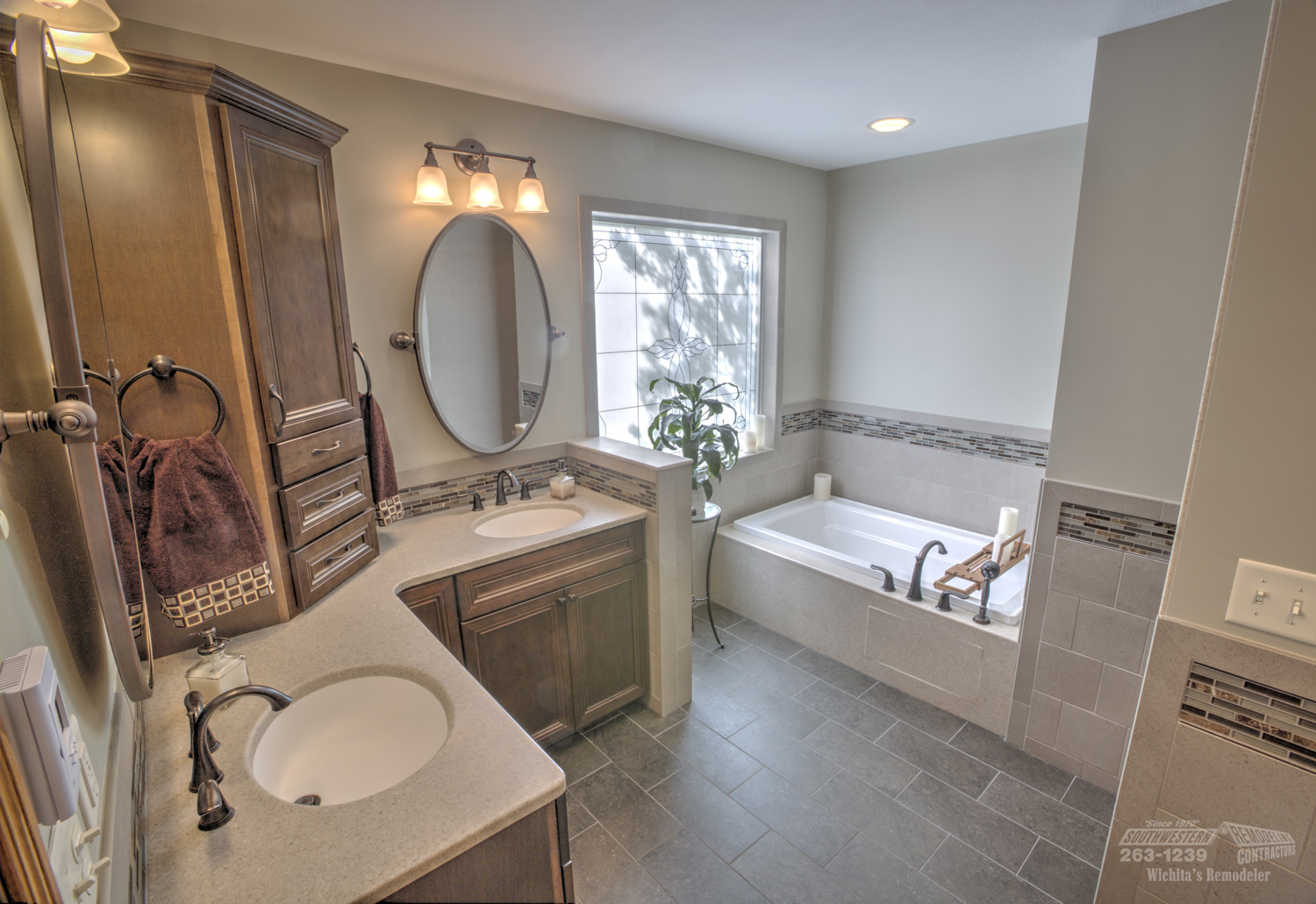 Bathroom remodeling southwestern remodeling wichita for Home bathroom remodel