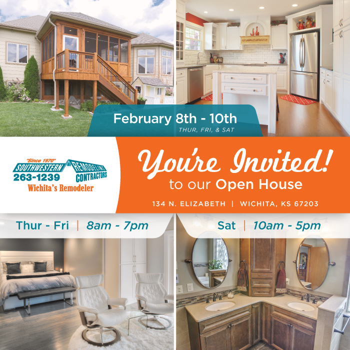 2018 home remodeling open house - same weekend as the WABA Home Show in Wichita KS
