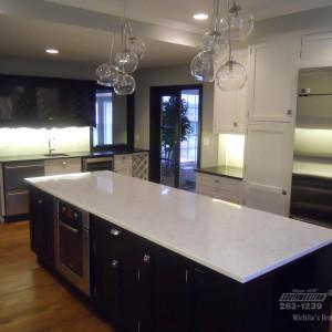 Southwestern-Remodeling-Kitchens-Glass-Chandelier-1