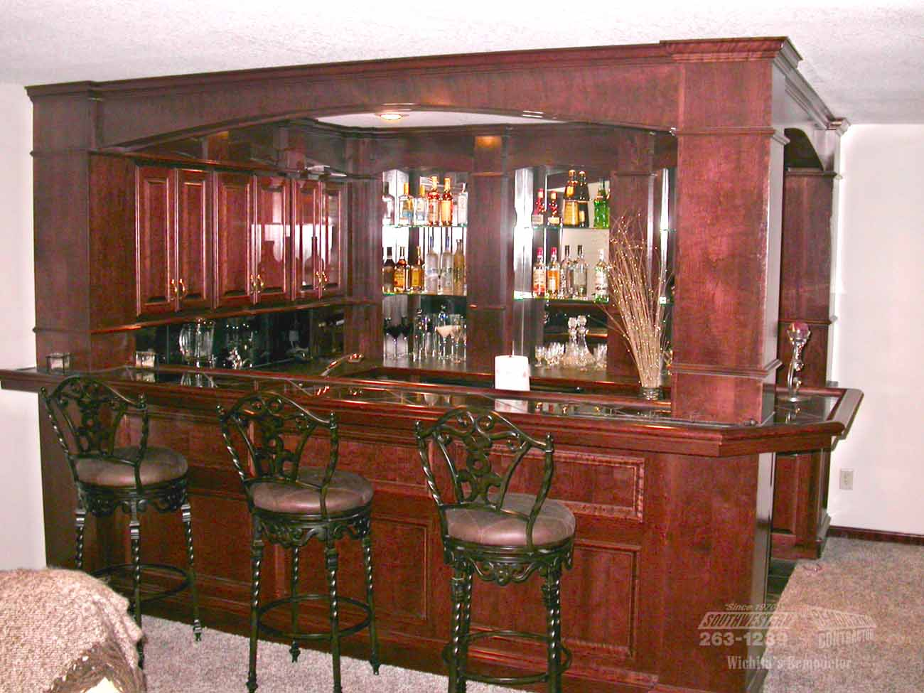 Basement bar remodeling southwestern remodeling ks - Southwestern home design and remodeling ...